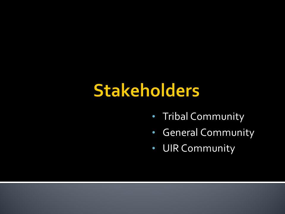 Tribal Community General Community UIR Community