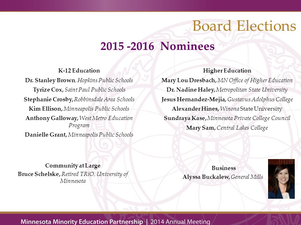 Board Elections K-12 Education Dr.