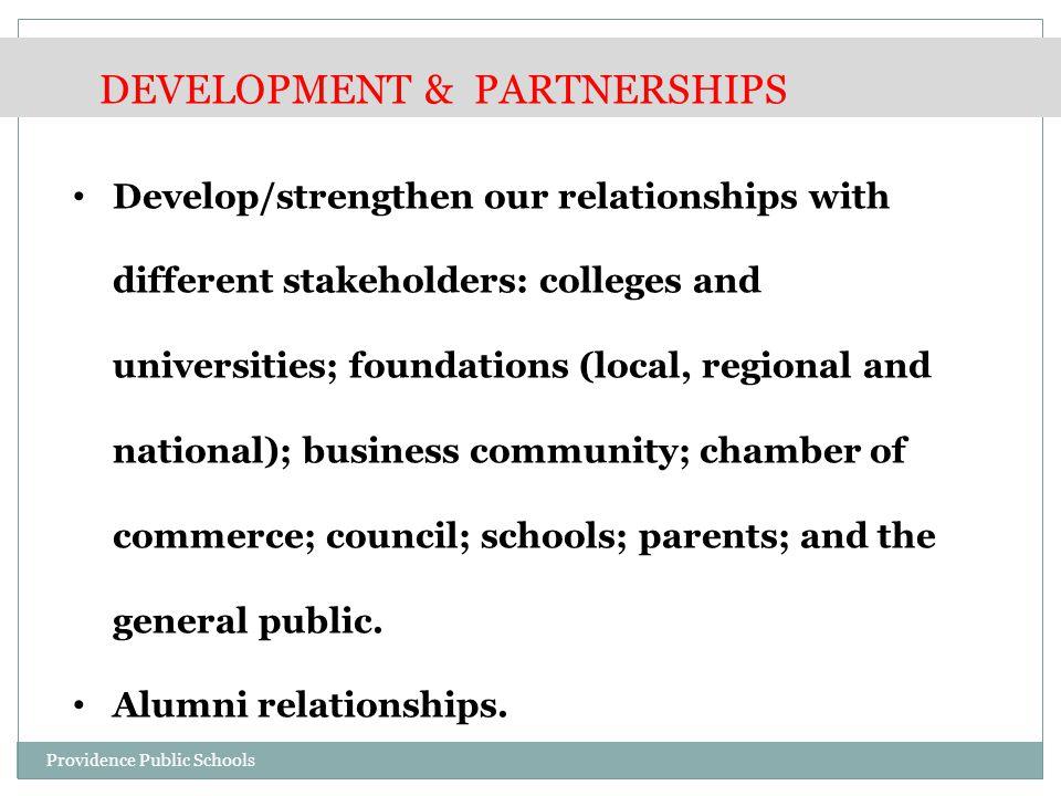 PPSD Grant Activities-2014 Development & Partnerships Providence Public Schools
