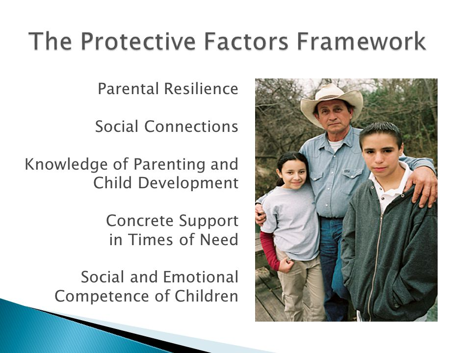 Parental Resilience Social Connections Knowledge of Parenting and Child Development Concrete Support in Times of Need Social and Emotional Competence of Children