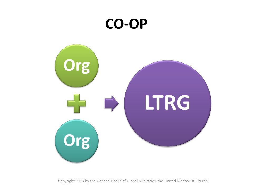 CO-OP Org LTRG Copyright 2013 by the General Board of Global Ministries, the United Methodist Church