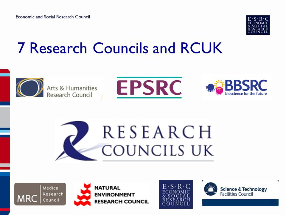 7 Research Councils and RCUK