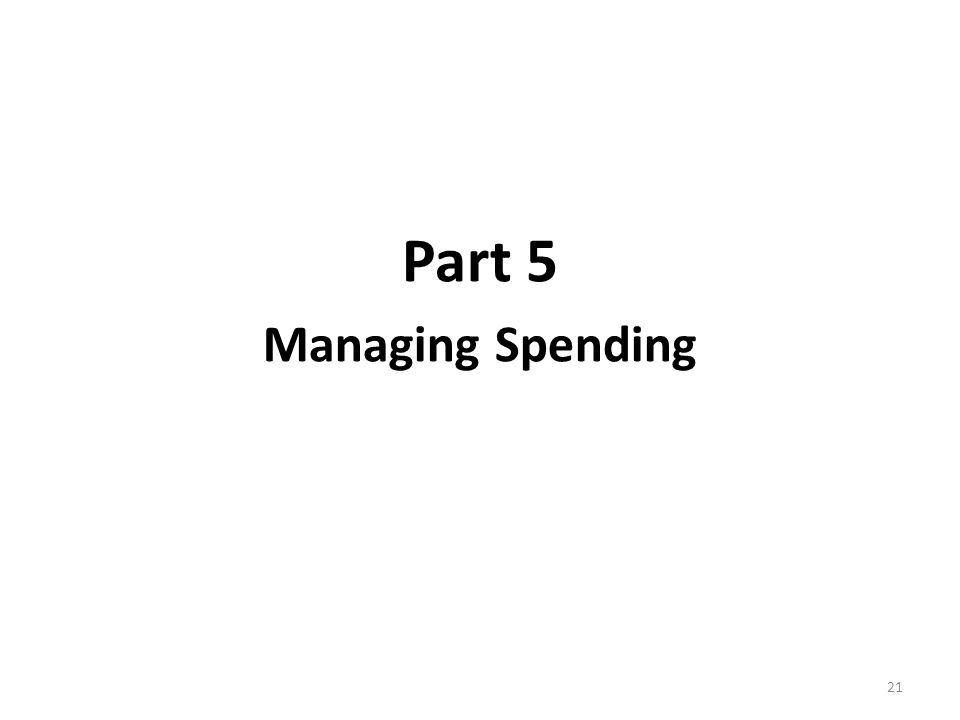 Part 5 Managing Spending 21