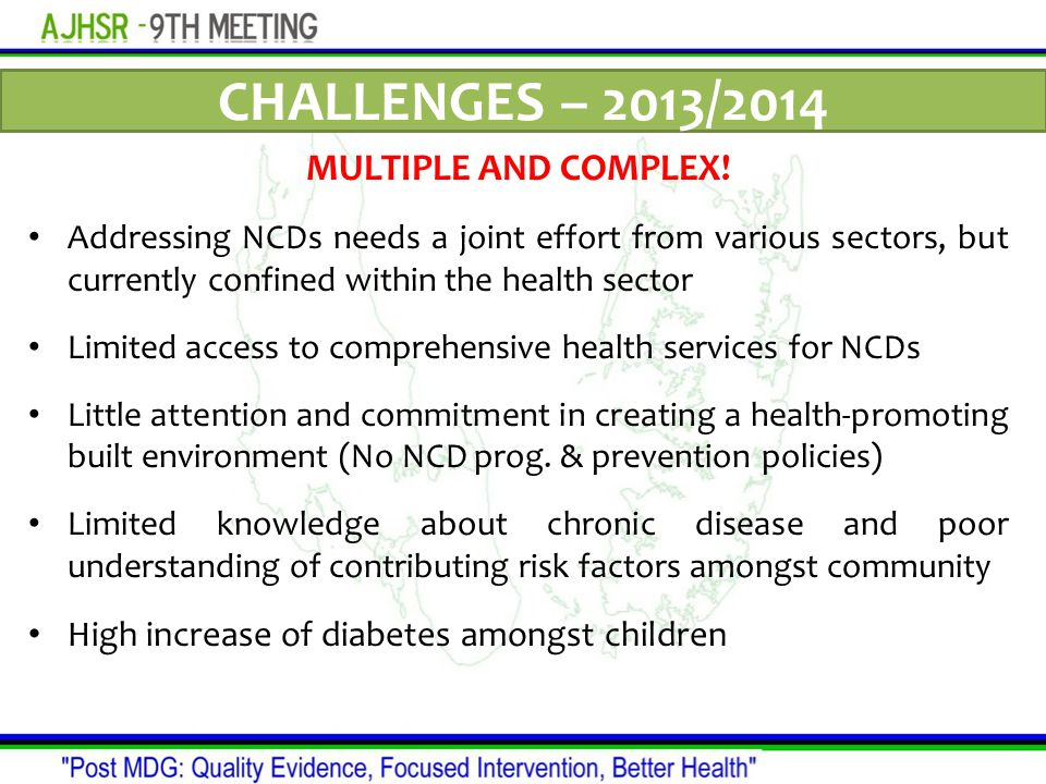 CHALLENGES – 2013/2014 MULTIPLE AND COMPLEX.