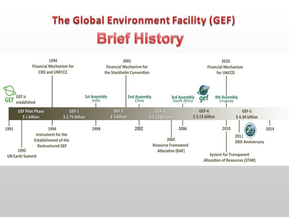 GEF Member Countries: 182 GEF Council: 32 Members.