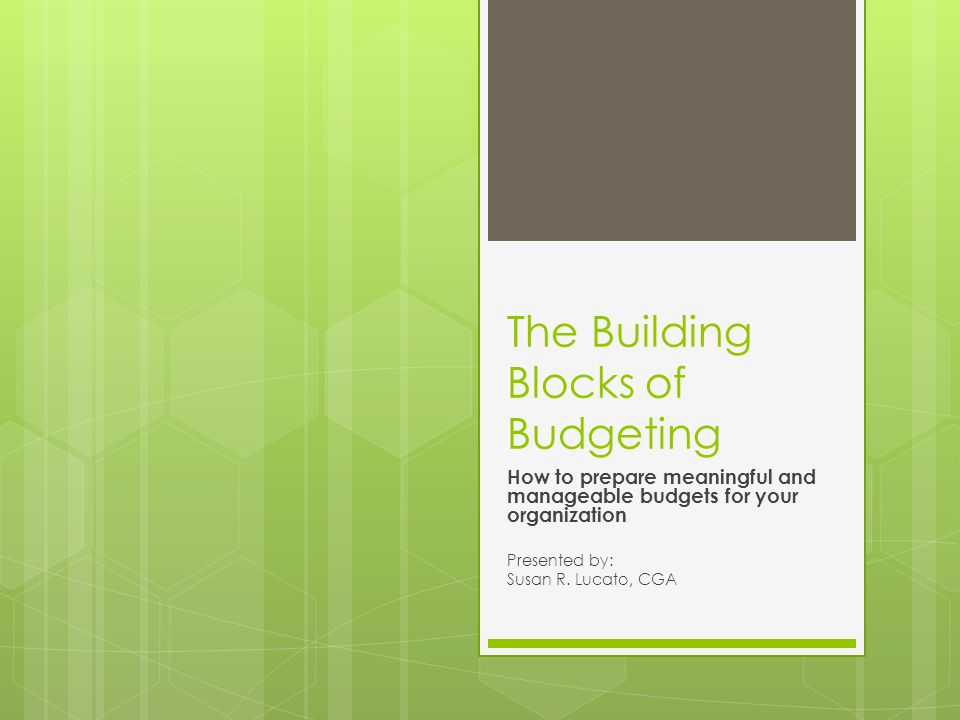 Project / Dept Budgets  Must feed into operational budget  Timing – incorporate into annual budget planning process  Staff preparing need to be fed certain pieces of information – such as salary allocation of staffing – they should NOT be provided with detailed staffing information