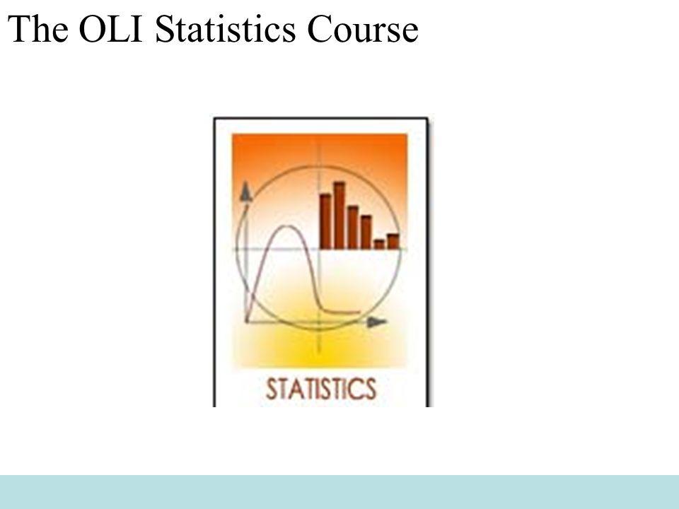 The OLI Statistics Course