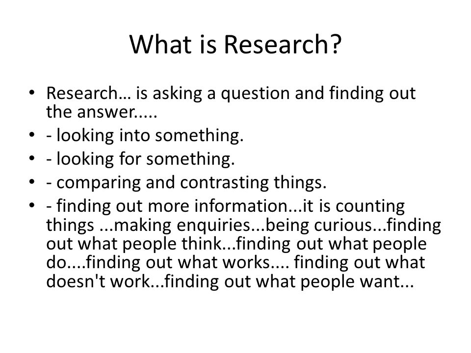 What research have you conducted recently.What decisions have you made about your day.