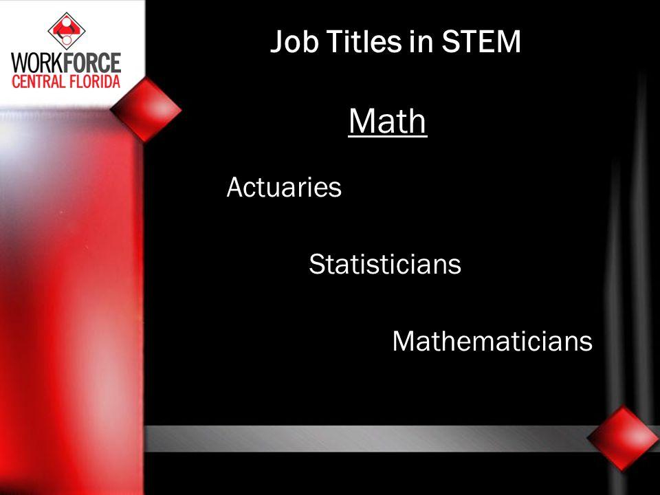 Math Actuaries Statisticians Mathematicians