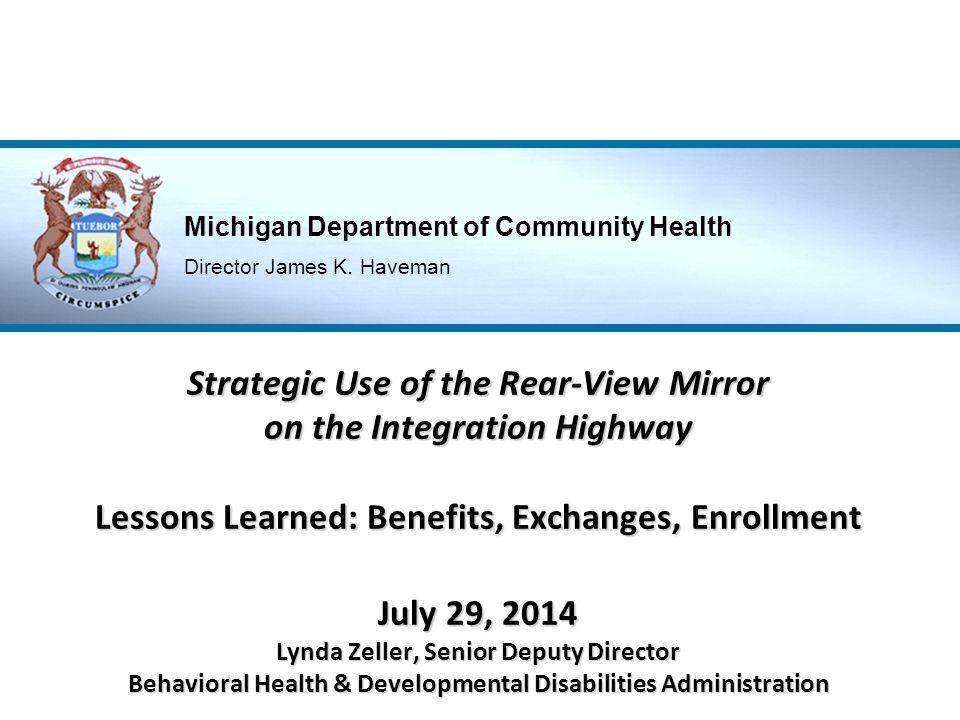 Michigan Department of Community Health Director James K.