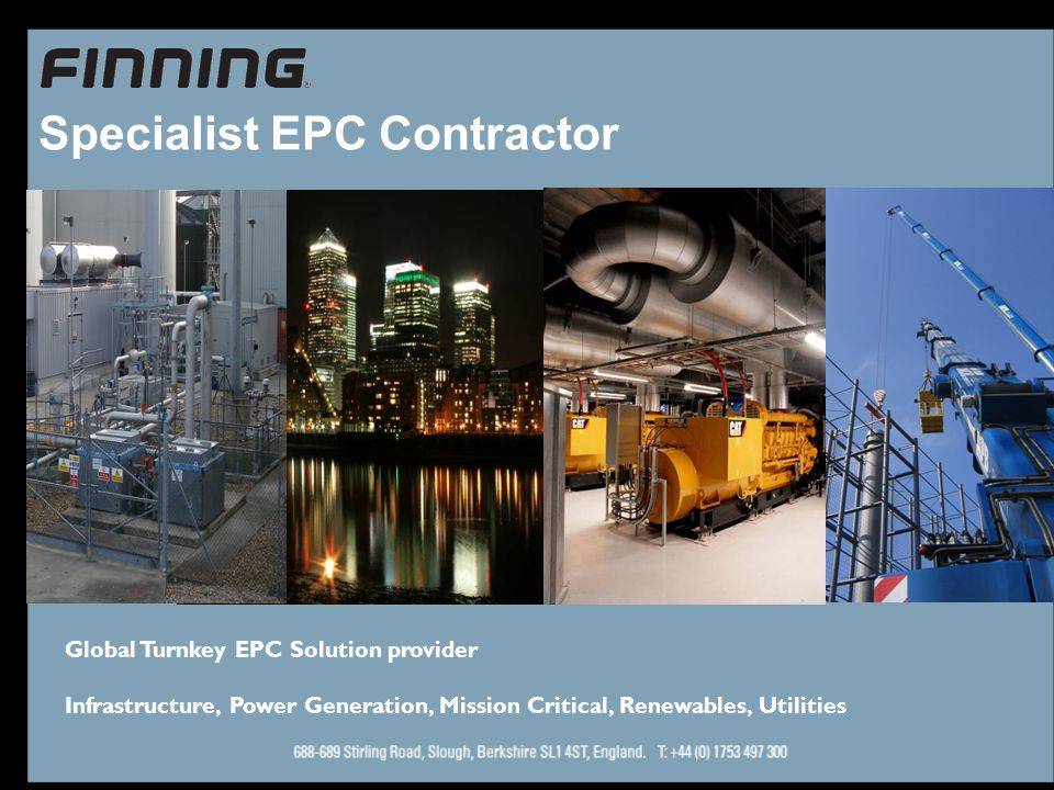 Specialist EPC Contractor Global Turnkey EPC Solution provider Infrastructure, Power Generation, Mission Critical, Renewables, Utilities