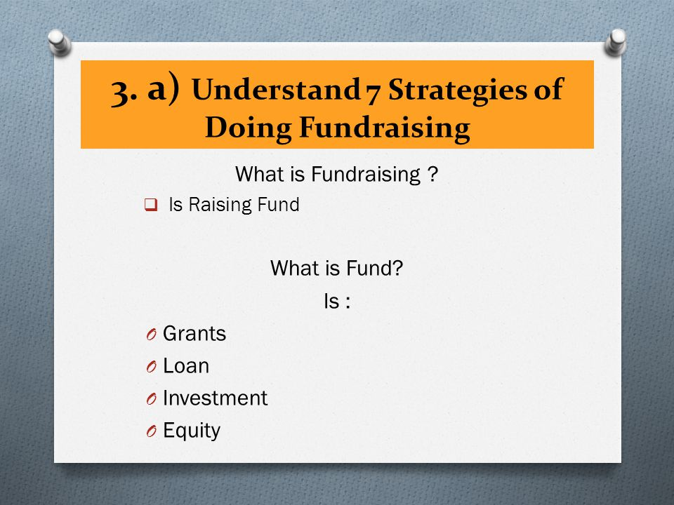 What is Fundraising .  Is Raising Fund What is Fund.