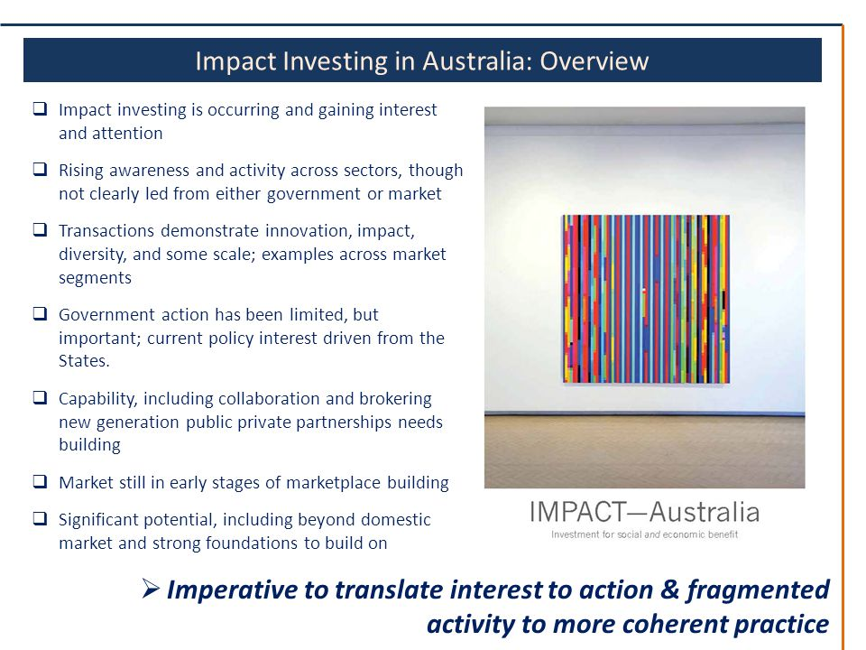 Australian strategy key elements questions draft 25 june ppt download 9 impact investing malvernweather Image collections