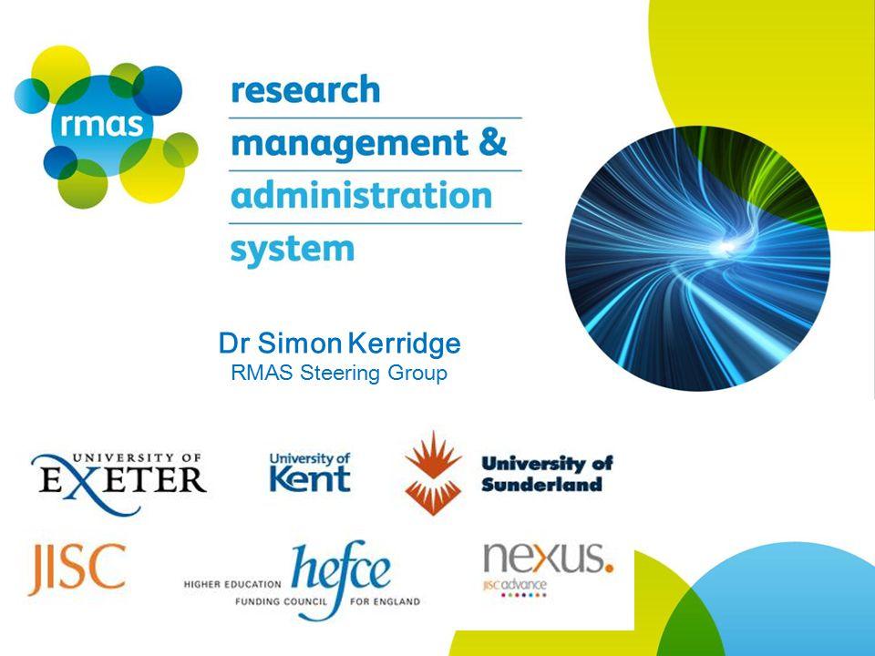Dr Simon Kerridge RMAS Steering Group