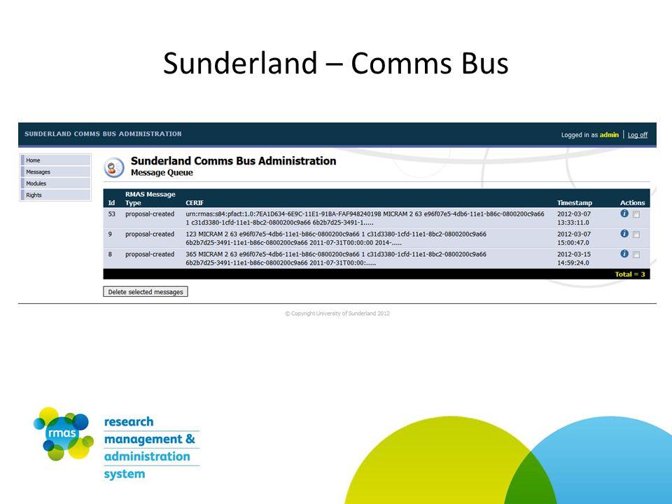 Sunderland – Comms Bus