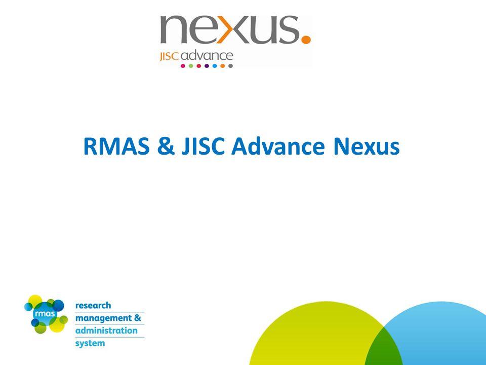 RMAS & JISC Advance Nexus