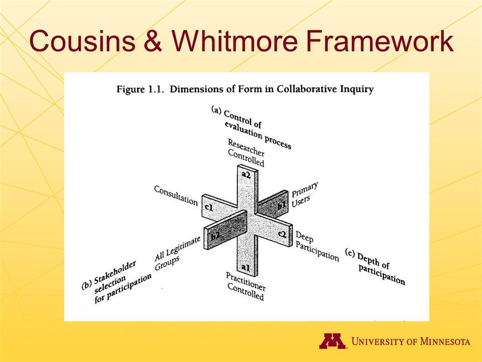 Cousins & Whitmore Framework