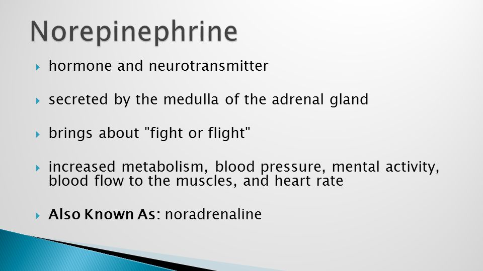  hormone and neurotransmitter  secreted by the medulla of the adrenal gland  brings about