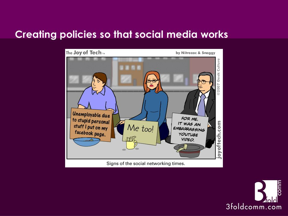 Creating policies so that social media works