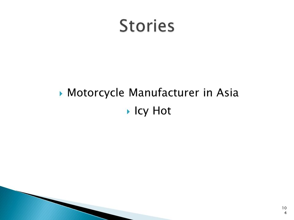  Motorcycle Manufacturer in Asia  Icy Hot 104