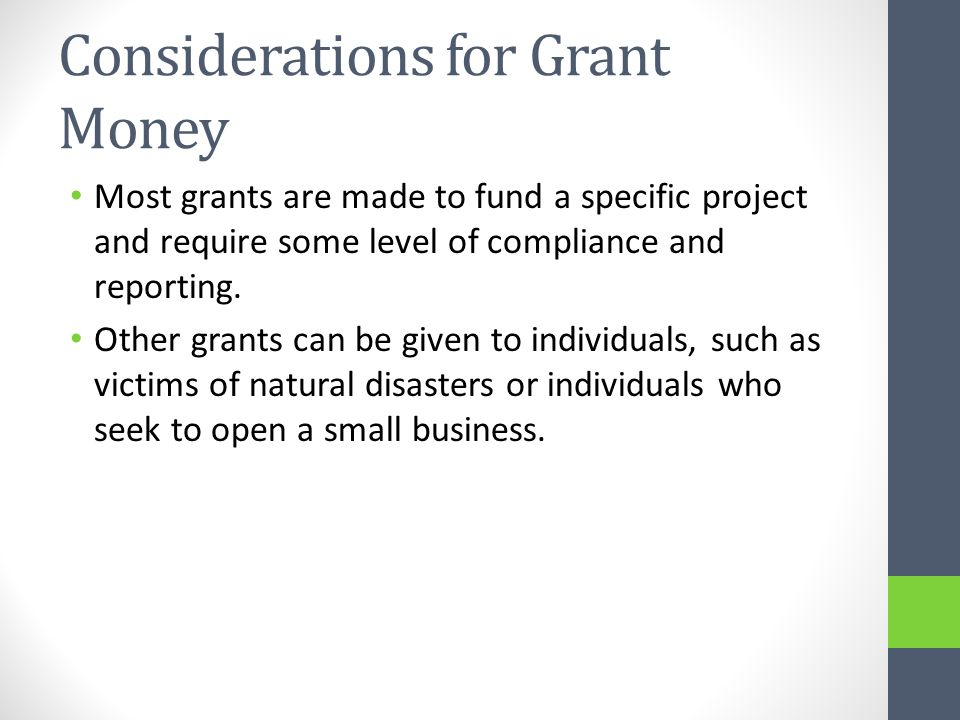 Grant Writing The grant writing process involves an applicant submitting a proposal to a potential funder, either on the applicant s own initiative or in response to a Request for Proposal from the funder.