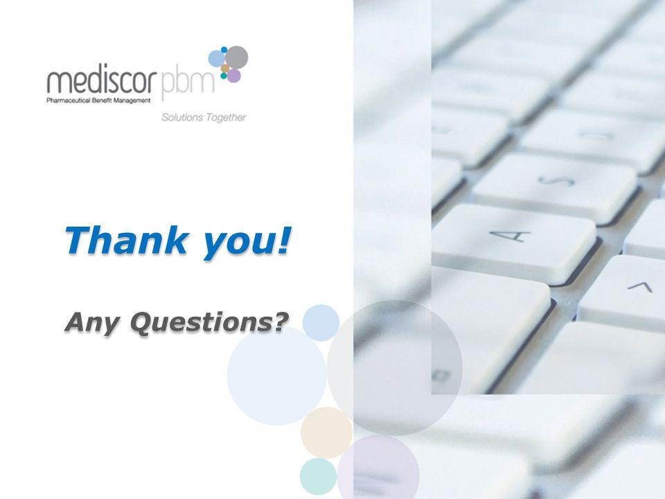 Thank you! Any Questions Thank you! Any Questions