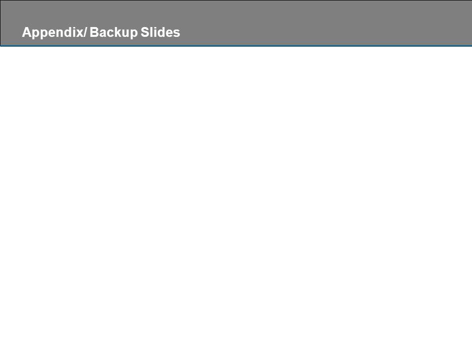Appendix/ Backup Slides