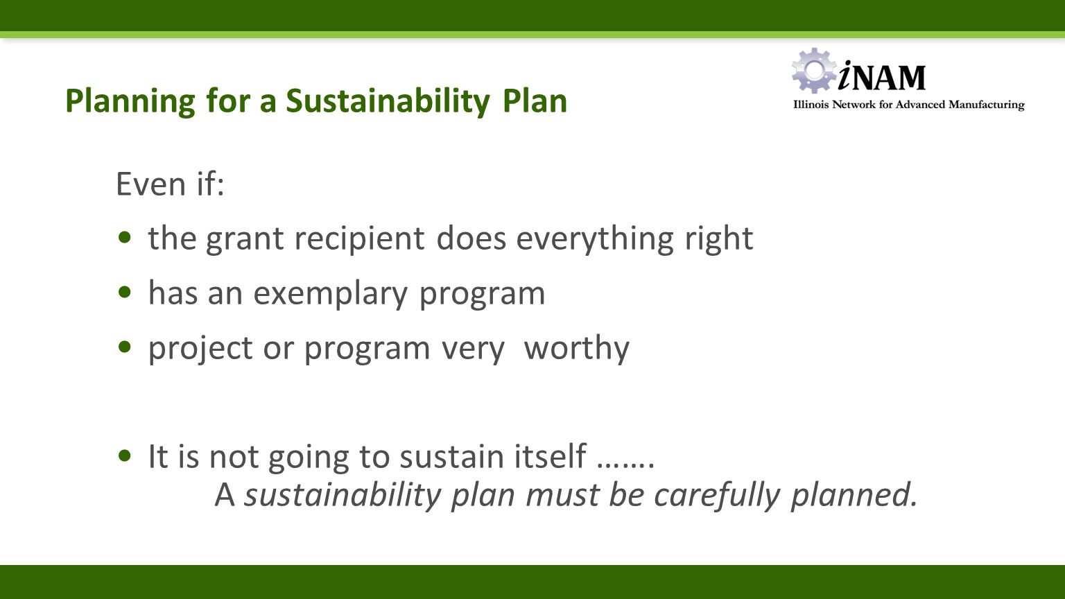 Institutionalize and Sustain.Activity for ReviewRefine?Renew.