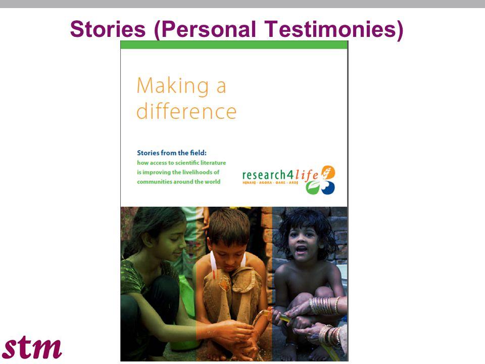 Stories (Personal Testimonies)
