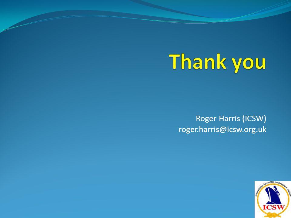 Roger Harris (ICSW) roger.harris@icsw.org.uk