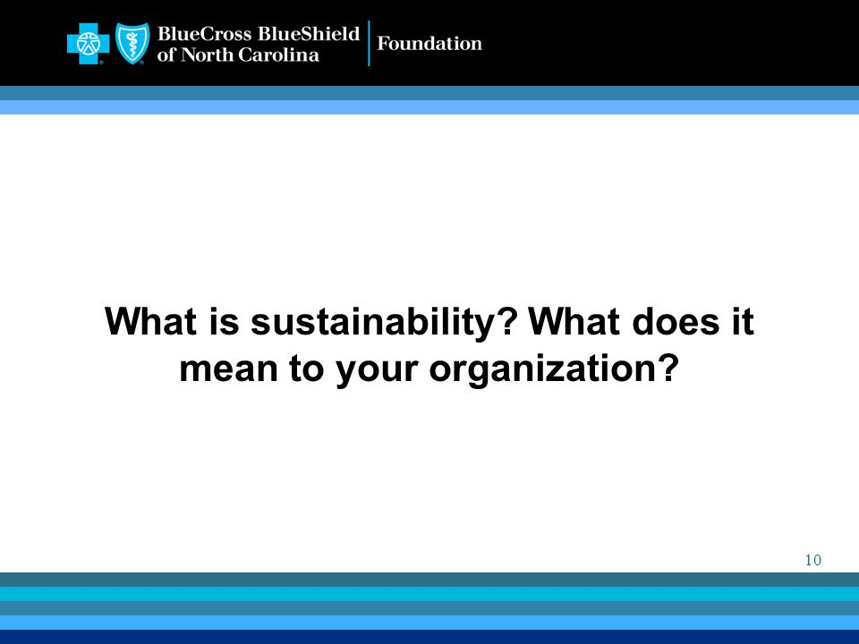 10 What is sustainability What does it mean to your organization