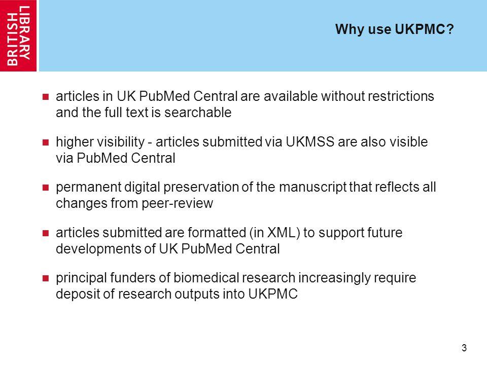 3 Why use UKPMC.