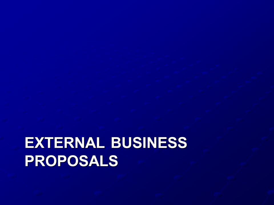 EXTERNAL BUSINESS PROPOSALS