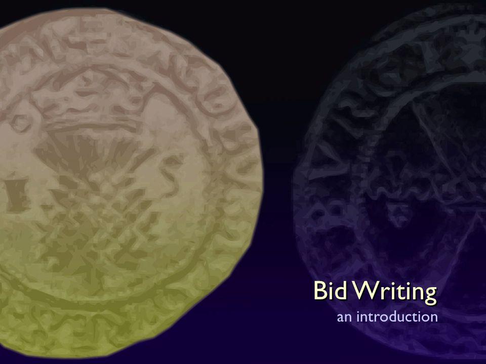 Bid Writing an introduction