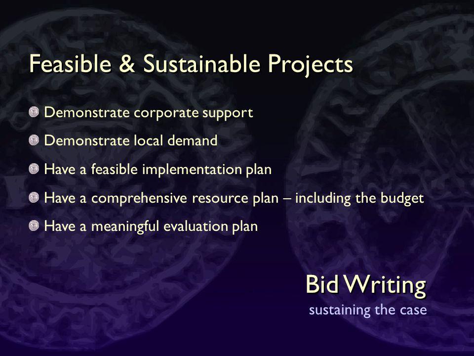 Bid Writing making the case Get Creative - Activity