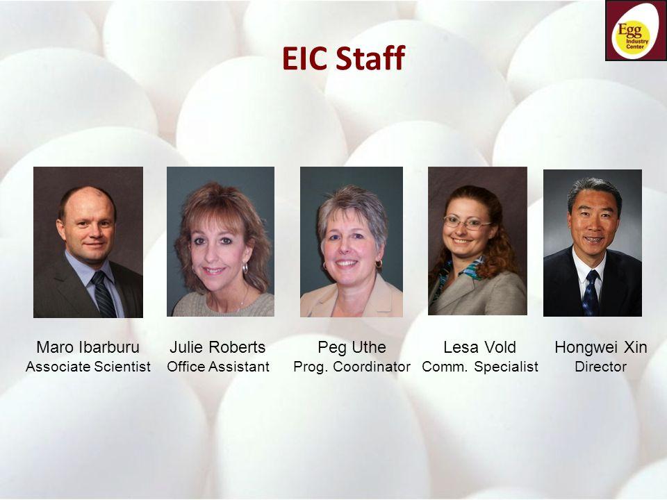 EIC Staff Maro Ibarburu Associate Scientist Julie Roberts Office Assistant Lesa Vold Comm.
