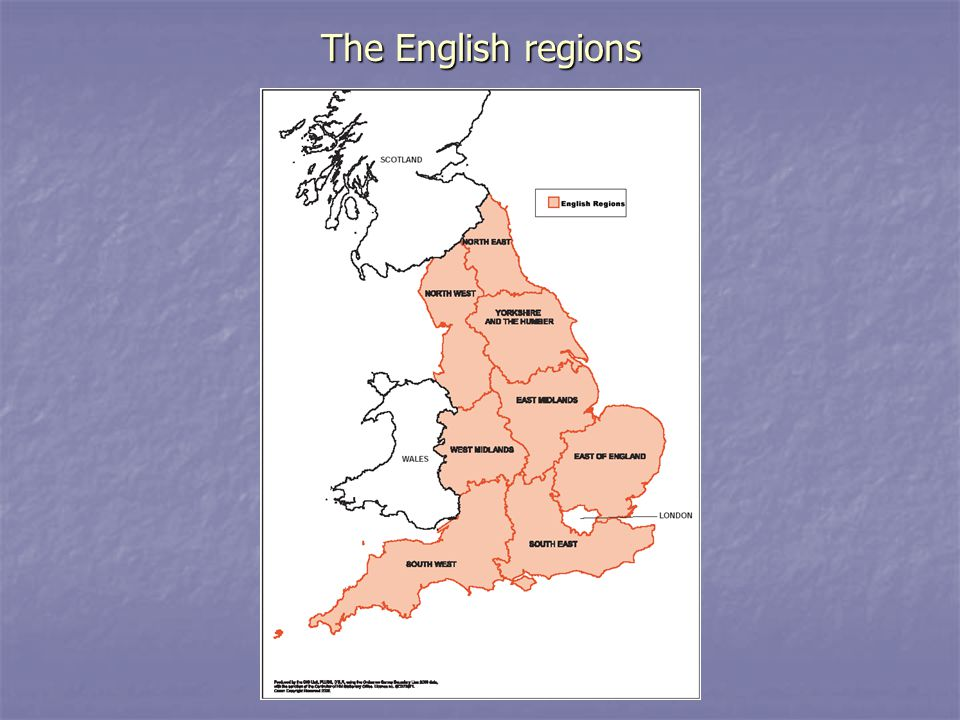 The English regions