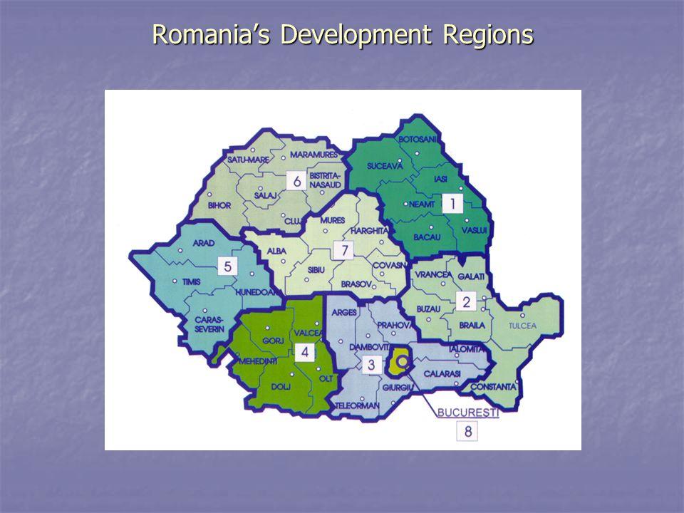 Romania's Development Regions