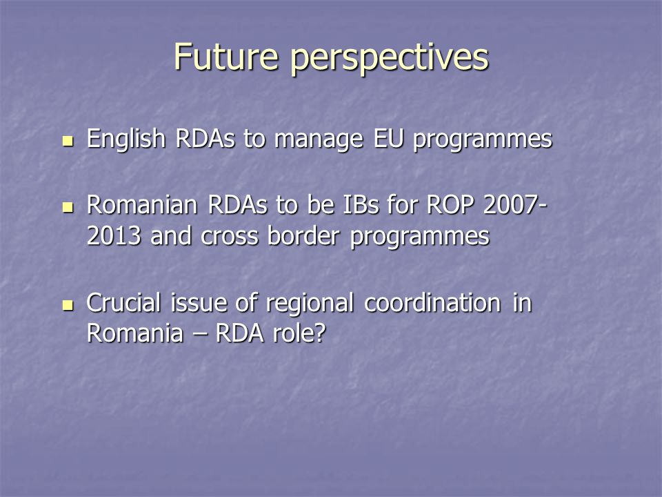 Romania Operational Programmes 2007-2013