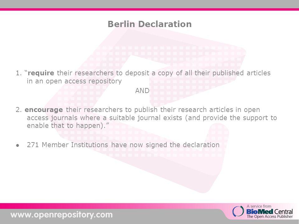 Berlin Declaration 1.
