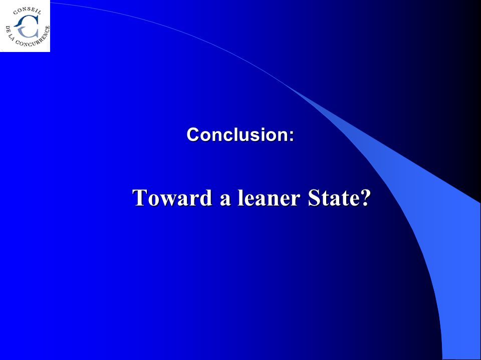 Conclusion: Toward a leaner State?