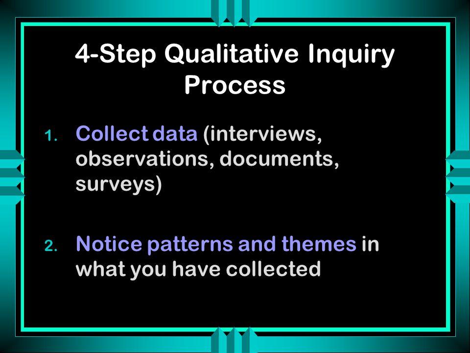 4-Step Qualitative Inquiry Process 3.