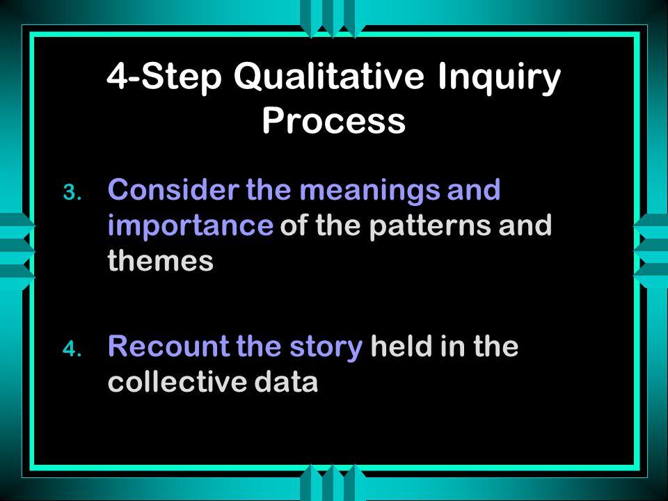 Qualitative Inquiry Process