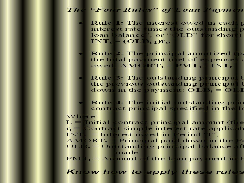 Example: L = $1,000,000; Fully-amortizing 30-yr monthly-pmt CPM; 8%=interest rate.