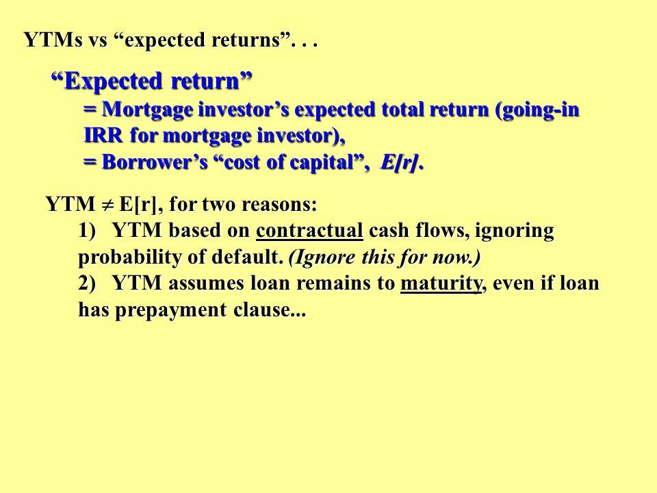 YTMs vs expected returns ...