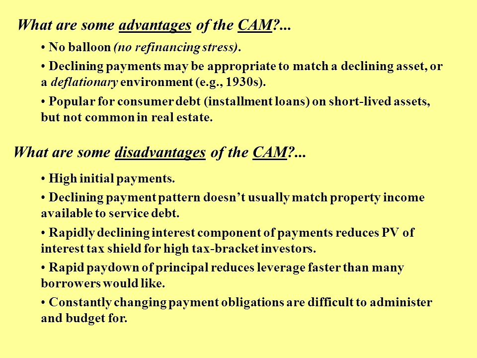 What are some advantages of the GPM?...Lower initial payments.