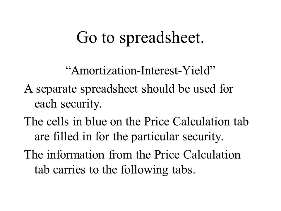 Go to spreadsheet.