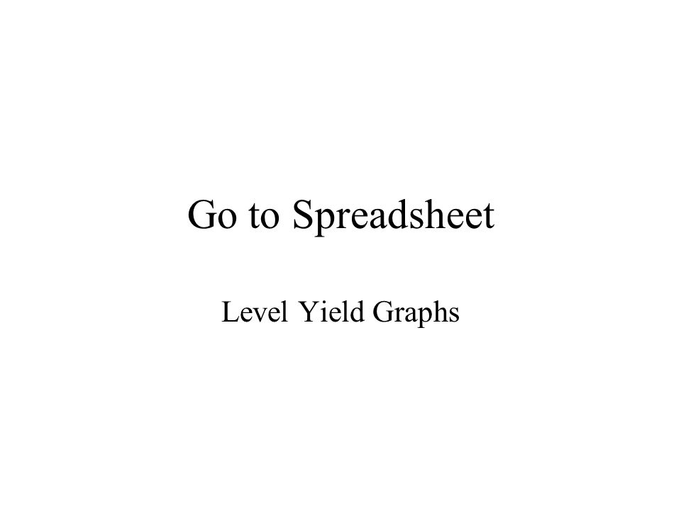 Go to Spreadsheet Level Yield Graphs