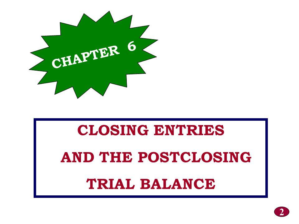 OBJECTIVE 2 Prepare a postclosing trial balance.OBJECTIVE 2 Prepare a postclosing trial balance.