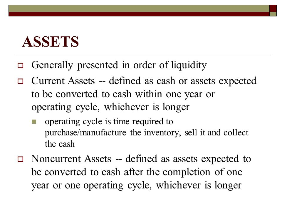 Long-term Investments Investments and Funds that management does not intend to sell or use within the subsequent year.
